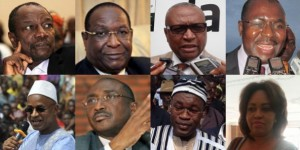 Les huit candidats , source JA
