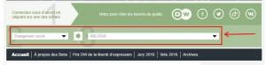 Capture d'écran de la page d'accueil cible
